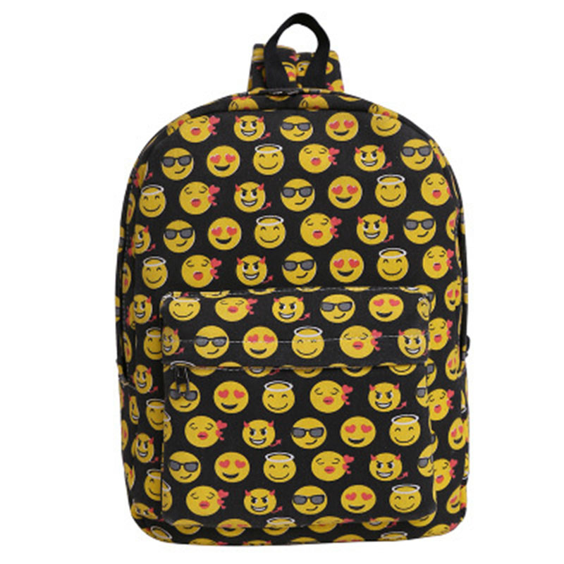 New selling Smiley face expression bag High-capacity canvas backpacks bag Women bag fashion Men & Women students bag