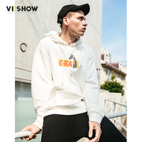 VIISHOW New Arrival Animal Hooded Hoodies Men Brand Clothing Letter Sweatshirt Male Kangaroo Pocket Casual Tracksuit