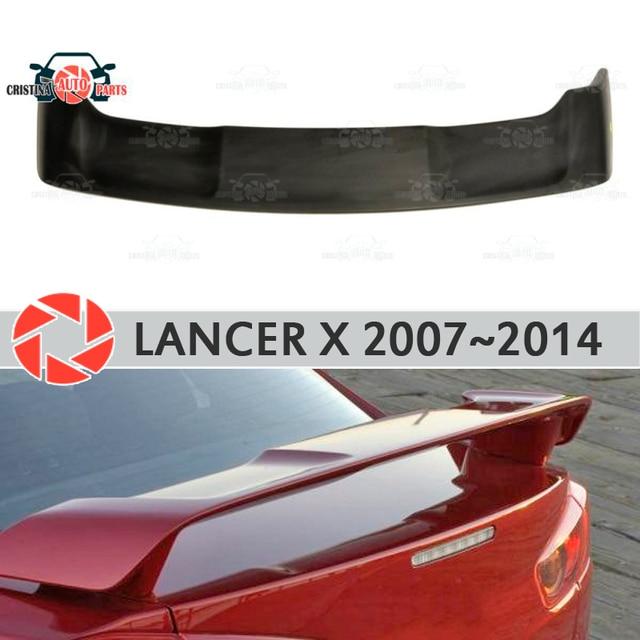 Спойлер для Mitsubishi Lancer X 2007-2014 пластик ABS украшение двери багажника аксессуары Защитная оклейка автомобилей литья