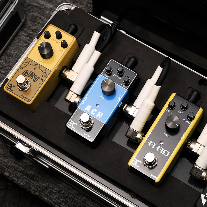 Acoustic Guitar Mini Single Guitar Effect Pedal Reverb Delay Chorus Guitar effector Color effects Guitar Parts & Accessories mooer single acoustic delay chorus effects true bypass baby water effect guitar pedal