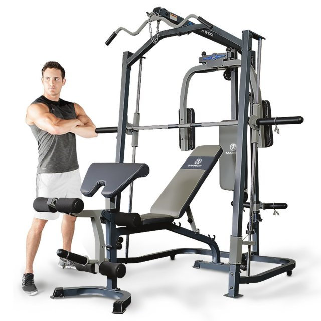 Marcy Mp3100 Smith Machine Home Gym With Weight Bench All