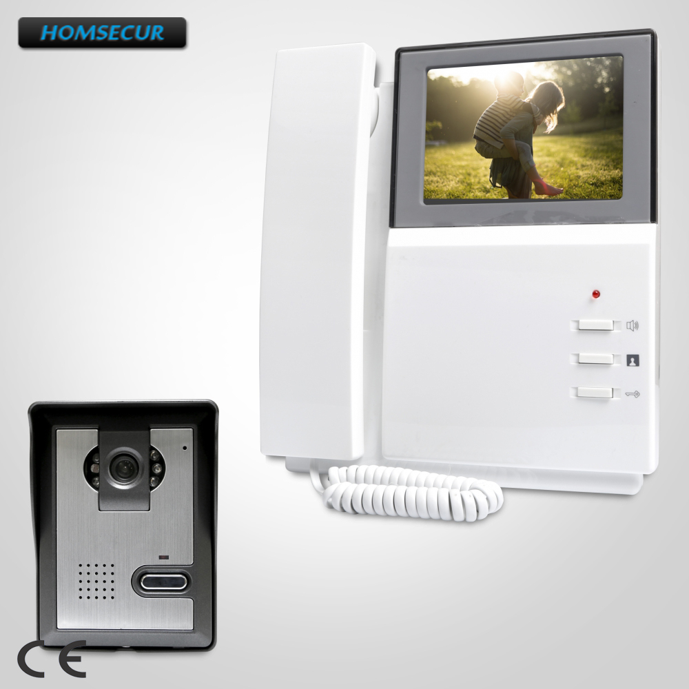 HOMSECUR 4.3inch Video Door Phone Intercom System With IR Night Vision For Home Security