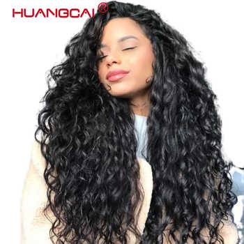 Glueless Lace Front Human Hair Wigs Pre Plucked Peruvian Water Wave Lace Front Wig For Women 150% Remy Hair 13*4 Wig - DISCOUNT ITEM  60% OFF All Category