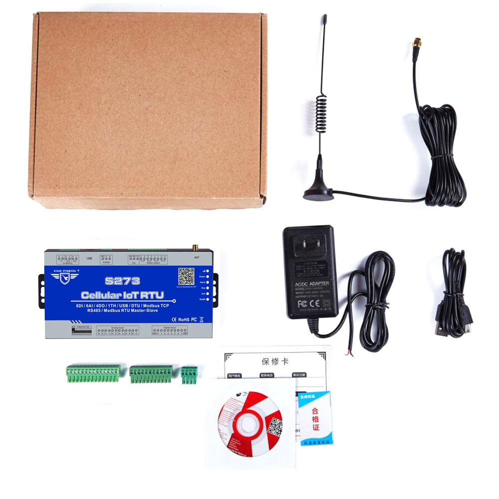Image 5 - Wireless IIOT RTU Modbus Gateway S273 3G 4G LTE Telemetry Monitoring System Support Transparent transmission 8DI 6AI 4RO-in Alarm System Kits from Security & Protection
