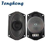 Tenghong 2 pçs 813 barco oval alto falante gama completa 4ohm 5w unidade de alto falante da bacia bolha para 88 teclado chave transmissão áudio alto falante diy
