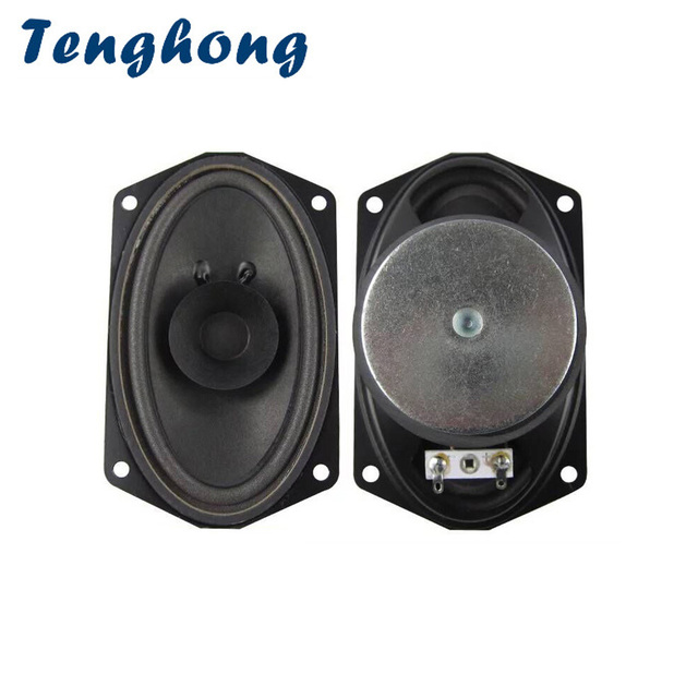 Tenghong 2pcs 813 보트 타원형 전체 범위 스피커 4 옴 5W 버블 분지 스피커 유닛 88 키 키보드 방송 오디오 스피커 DIY
