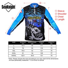 SeaKnight Fishing Clothing SK006 Large Size L XL XXL XXXL XXXXL Summer Long Sleeve T-shirt Anti-UV Breathable Quick Dry Clothes