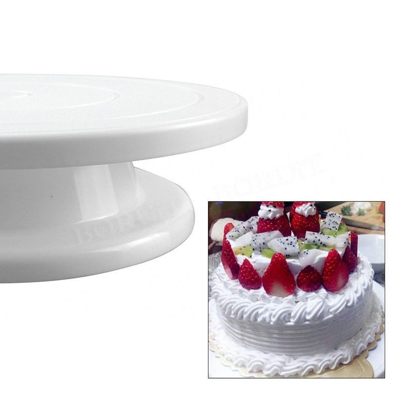 Kitchen Cake Plate Revolving Decoration Stand Platform Turntable Round Rotating Cake Swivel Christmas Baking Rotary Tools