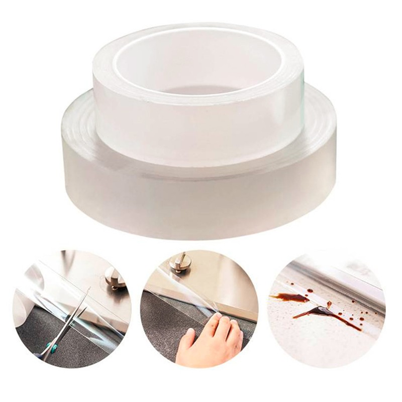 Durable Acrylic Transparent Adhesive Tape Waterproof Mildewproof Sealant Tape For Kitchen Bathroom Anti Leakage Dirt Caulk Tape