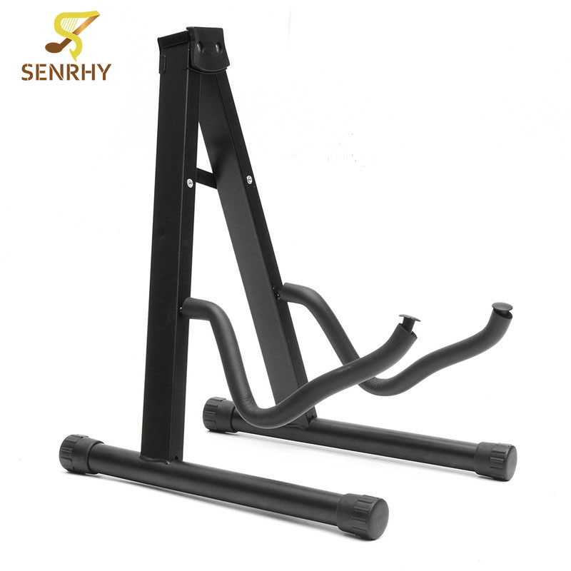 SENRHY Folding Guitar Floor Stand Holder A Frame Universal Fits Acoustic Electric Bass Solid And Secure Folding Design folding a frame electric guitar floor stand holder acoustic guitar electric guitar bass floor rack holder promotion