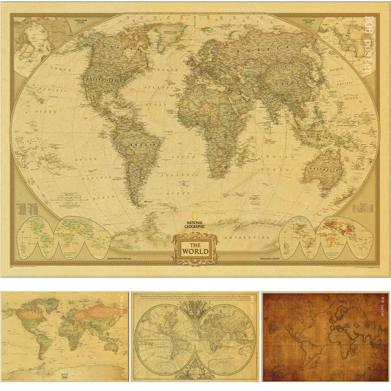 Vintage poster Ancient Old City World Maps Middle Earth old Map ...