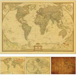 Vintage poster Ancient Old City World Maps Middle Earth old Map Poster Retro Kraft Paper Home Decor Wall Sticker