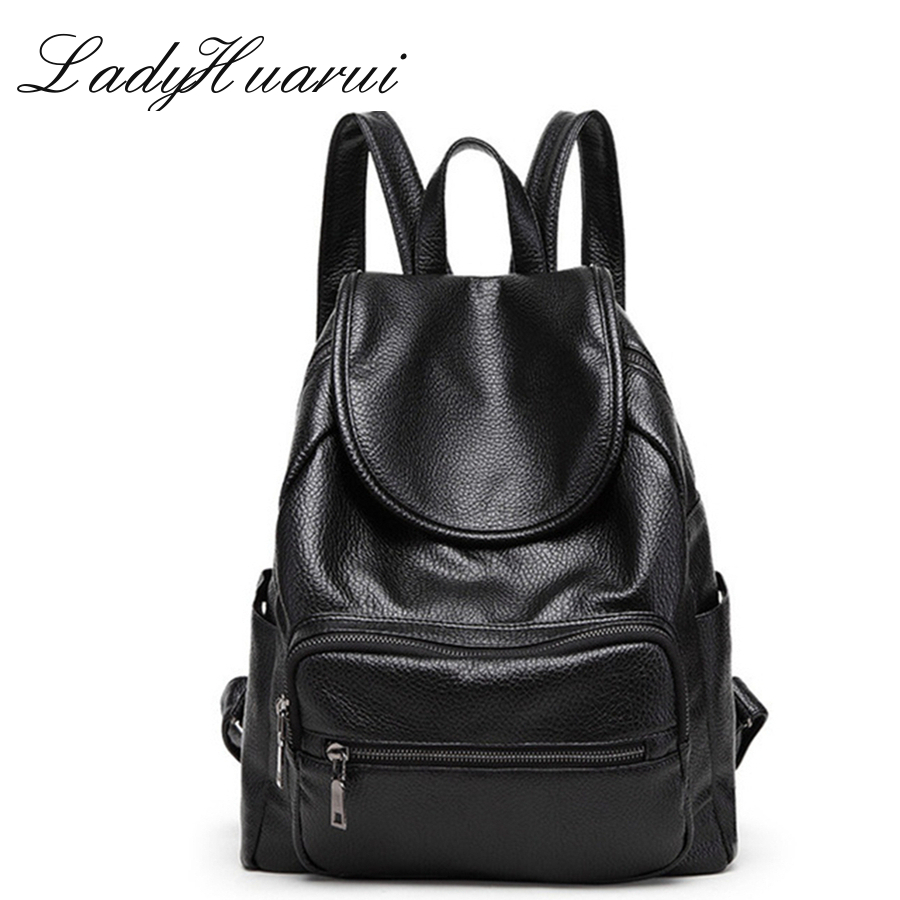 New 2017 Design Pu Women Leather Backpacks School Bag Student Backpack Ladies Women Bags Leather Package Female Q3  brand 2017 design women genuine leather backpacks cowhide school bag student backpack ladies bags leather package travel female