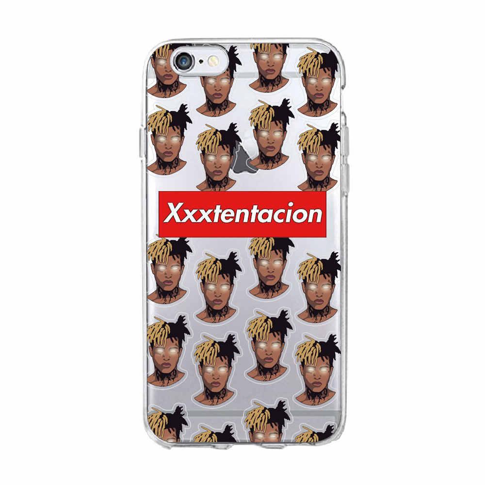 悲しい男の子 XxxTentacion Lilpeep ラッパー電話ケース iphone 11 プロマックス 6s 5 8 7 プラス X XR XS 最大ソフト Tpu シリコンカバーケース