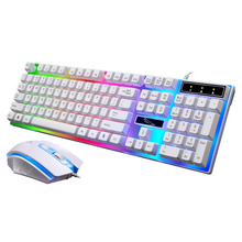 Wired Keyboard and Mouse Set Suspension Keys with LED Breathing Light Mechanical Feeling Computer Gaming Mice Keyboard Combos цена в Москве и Питере
