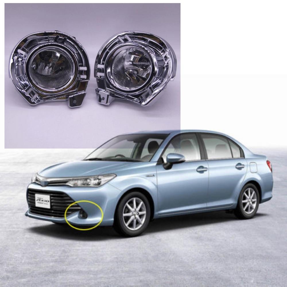 JanDeNing OEM стиль непосредственно Замена Противотуманные фары для Toyota Axio 2015 2016 2017 Вт/лампа + переключатель провода ободок/1 компл.
