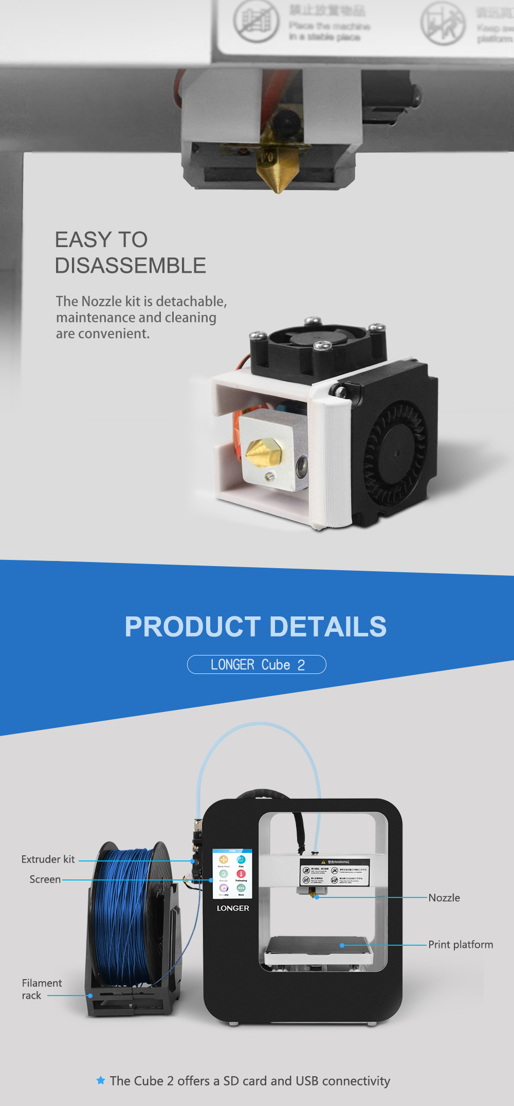 Alt Longer3D Cube2.0 FDM 3D printer-7