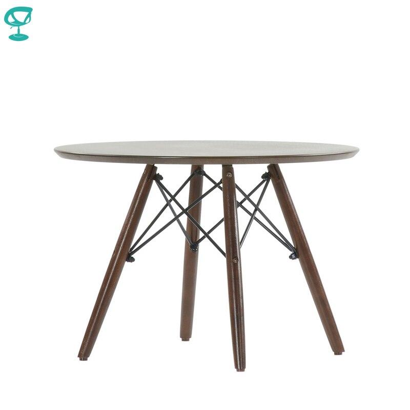 TN12Brown Barneo TN-12 Interior de chapa de la mesa de café para descansar muebles de mesa de comedor color marrón envío gratis en Rusia