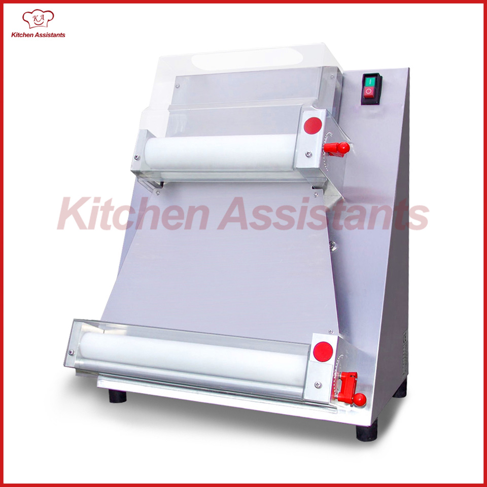 DR1V electric stand stainless steel pizza dough roller machine pizza making machines dough sheeter electric pizza dough press machine for rolling dough dough sheet making machine