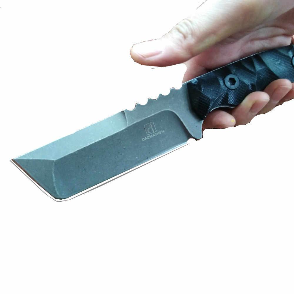 Tam Tang Yeni Açık Taktik Bıçak Survival Kamp Araçları Koleksiyon Avcılık Bıçaklar D2 Çelik G10 Kolu Sabit Bıçak Bıçak