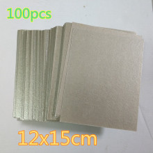 100pcs  12*15cm Spare parts for microwave ovens mica microwave mica sheets microwave oven plates 270mm diameter y shape underside media galanz panasonic microwave glass plate oven turntable genuine original parts