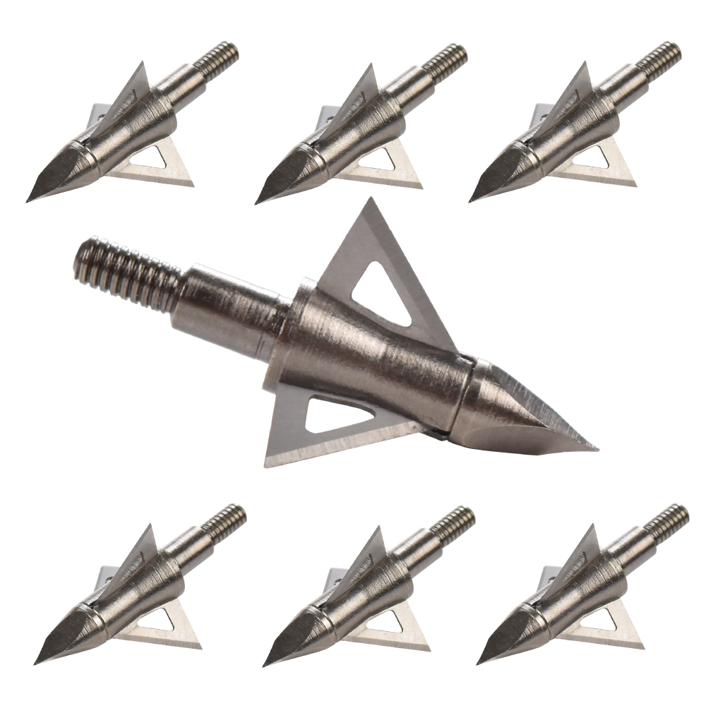 12Pcs Broadhead 100 125 Grain Hunting Arrow Head 3 Blades 8.8mm Archery Bow Outdoor Target Hunting Beast Free Shipping