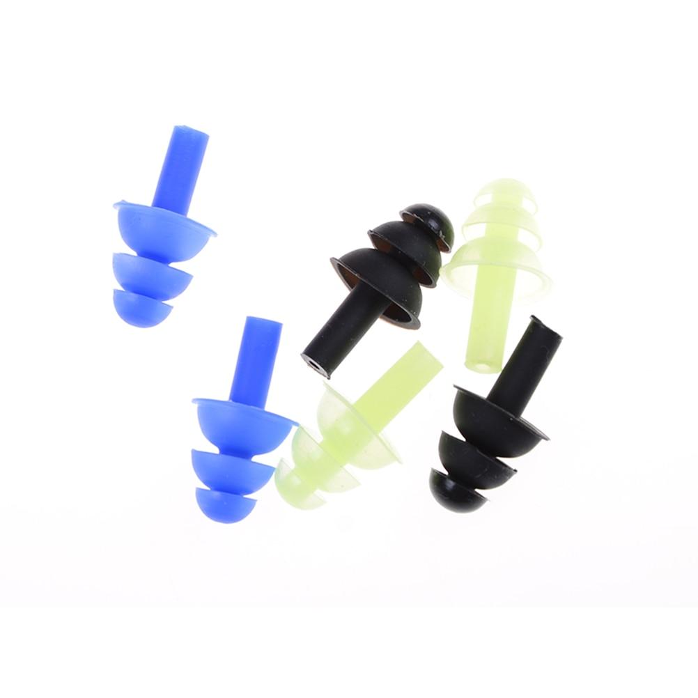1 Pair Swimming Dive Flexible Silicone Ear Plugs Earplug High Quality