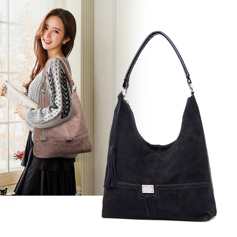 YILIAN2019 autumn and winter new deerskin fashion leisure single shoulder cowhide bag for women
