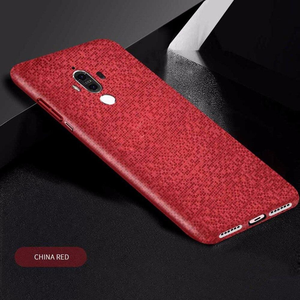 Чехол для Huawei Mate 9 случаях Роскошный тонкий защиты кожи Жесткий ультра-тонкая задняя крышка для Huawei Mate 9 чехол для телефона mate9 Coque 5.9