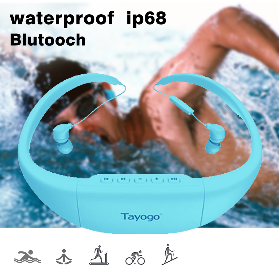 Bluetooth Swimming sport headphone mp3 player waterproof wireless hifi headset support FM Radio/Pedo Meter Fone de ouvido newest sport wireless earphone headphone earphones headphones headset music mp3 player tf card earbuds fm radio fone de ouvido l3fe