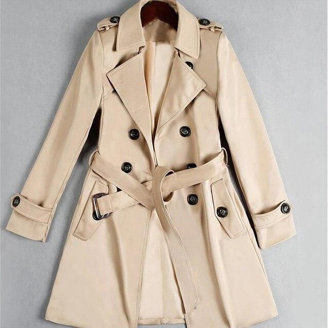 Yocalor Тренч для Для женщин двубортный Тонкий длинный Весна casaco feminino Abrigos Mujer верхняя одежда на осень женские пальто
