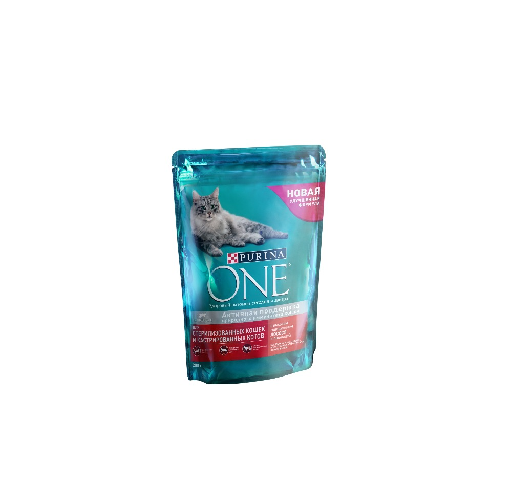 Dry feed Purina ONE for sterilised cats and cats with salmon and wheat, package, 2 kg. new and retail package for 146gb 10k 005048491 cx 2g10 146 fc