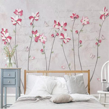 Literature and art of American magnolia flower butterfly background wall manufacturers wholesale wallpaper mural custom photo wa