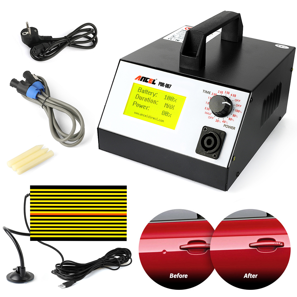 Ancel PDR-007 Hot Box PDR007 With Hand Pump Airbag Led Liht Induction Heater For Removing Dents Sheet Metal Tools Dent Repair 500pcs stud welder draw pin set for removing dents car body sheet metal 2 0mm