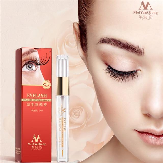 MeiYanQiong pestañas herbales crecimiento suero líquido mejora tratamientos pestañas ojo más grueso extensión de pestañas potente maquillaje