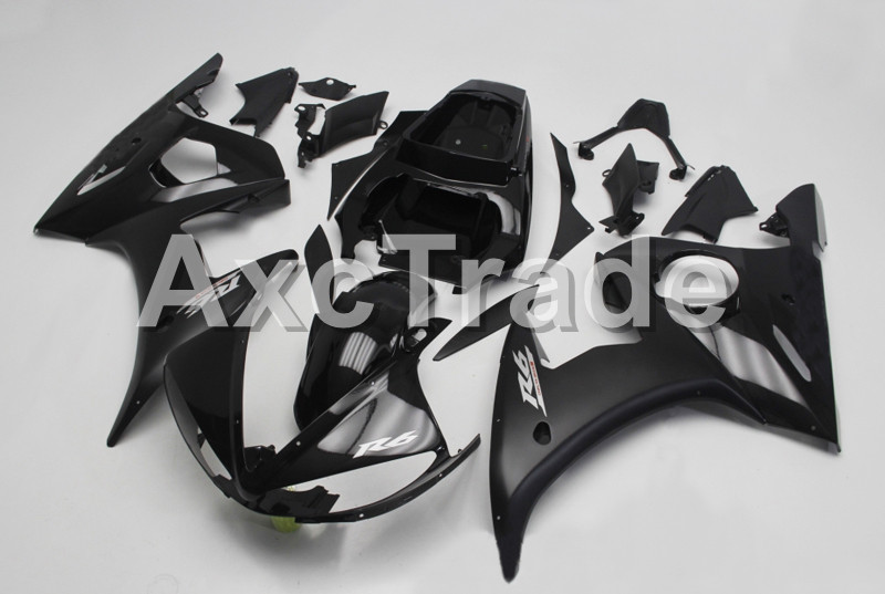 Motorcycle Fairings For Yamaha YZF600 YZF 600 R6 YZF-R6 2003 2004 2005 03 04 05 ABS Injection Molding Fairing Bodywork Kit B405 hot sales yzf600 r6 08 14 set for yamaha r6 fairing kit 2008 2014 red and white bodywork fairings injection molding