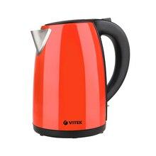 Чайник электрический Vitek VT-7026(CR) (Мощность 2200 Вт, объем 1.7 л, корпус из стали, вращение 360°, автоотключение)