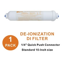 "Купить с кэшбэком Inline Deionization Water Filter RO Purifier Replacement DI Mixed Bed Resin Filters 10"" x 2"" Dia. 1/4-Inch Quick Push"