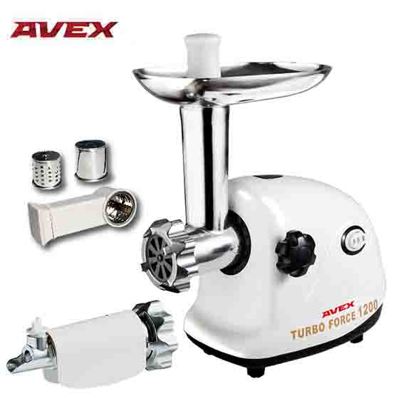 Meat Grinder AVEX MG-151 TT with a juicer for a tomato and shredding beurer mg 151