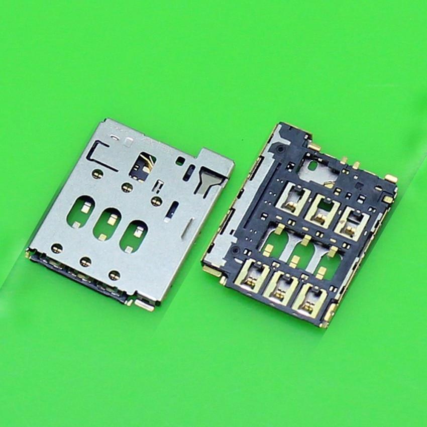 2 X Kualitas Baik SIM Pembaca Konektor Slot Kartu Bagian Anda HTC Desire 816/D816d/D816n/D816w ganda SIM Baru Dalam Stok + Pelacakan-Internasional