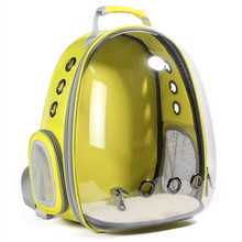 Собака пространство капсула Рюкзак дышащий собака мешок прозрачный рюкзак каретки для домашних животных Новые Pet Space Pack Творческий собака сумка