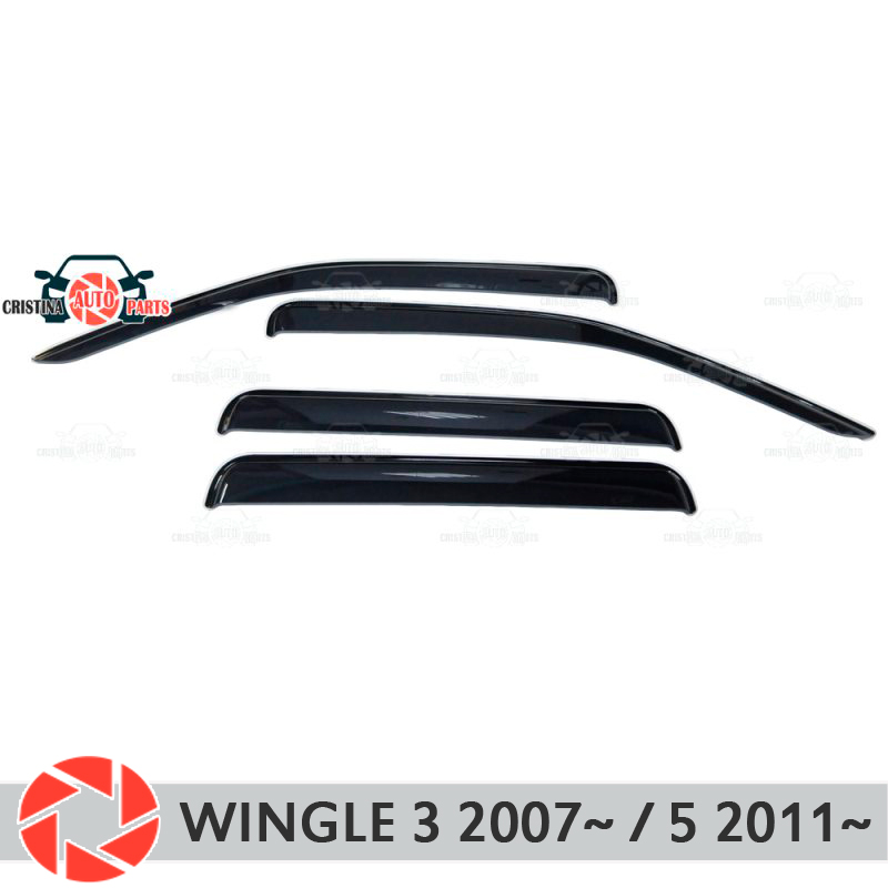 Window deflector for Great Wall Wingle 3 2007~ / 5 2011~ rain deflector dirt protection car styling decoration accessories sandy beach wallpaper for comfortable house decoration wall paper living room 3d tv background wall decoration
