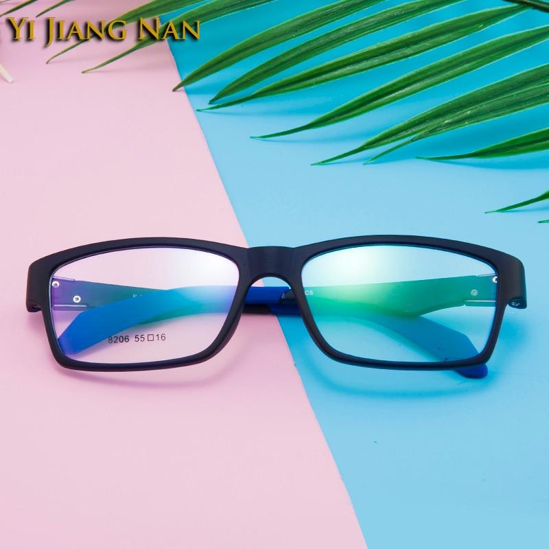 Tr90 Vollrand Brillen Hombre Jiang Nan Sport Gafas Männer Marke Korea Yi Schwarzes gray Frauen Optische blau WzYqwaUp