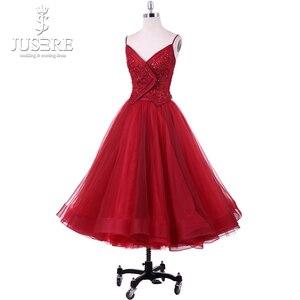 Image 2 - Платье для Homecoming из двух предметов, кружевное платье с кружевной аппликацией, расшитое вручную, на тонких бретельках, для выпускного бала, 2018, Robe De Soiree, Короткие праздничные платья