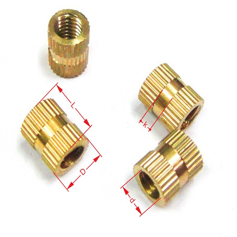 100pcs/lot Through-hole Brass Insert Nut / Knurled Nuts M2 M2.5 M3