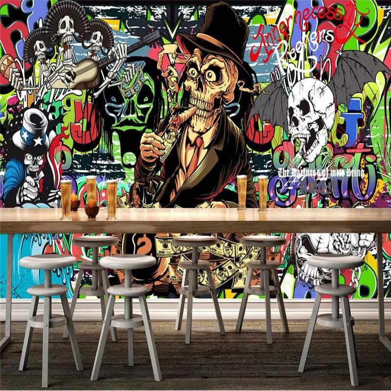 Индивидуальное Ретро винтажное граффити изображение стены профессиональное производство Фреска оптовая продажа, Обои фреска плакат фото стена