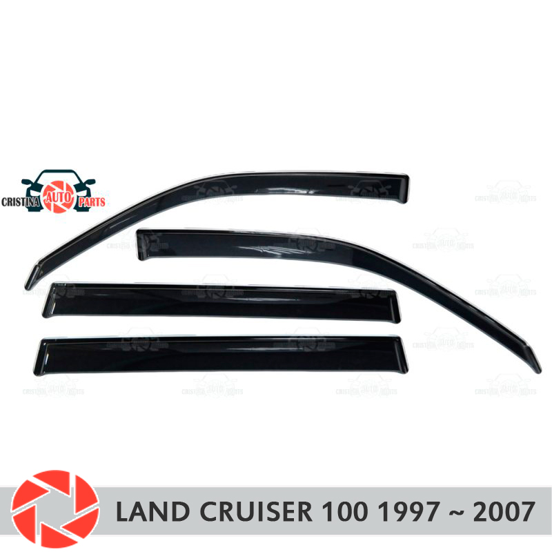 Window deflector for Toyota Land Cruiser 100 1997~2007 rain deflector dirt protection car styling decoration accessories molding for toyota fj cruiser 2010 2011 2012 led daytime running lights drl fog lamp car styling wholesale d10