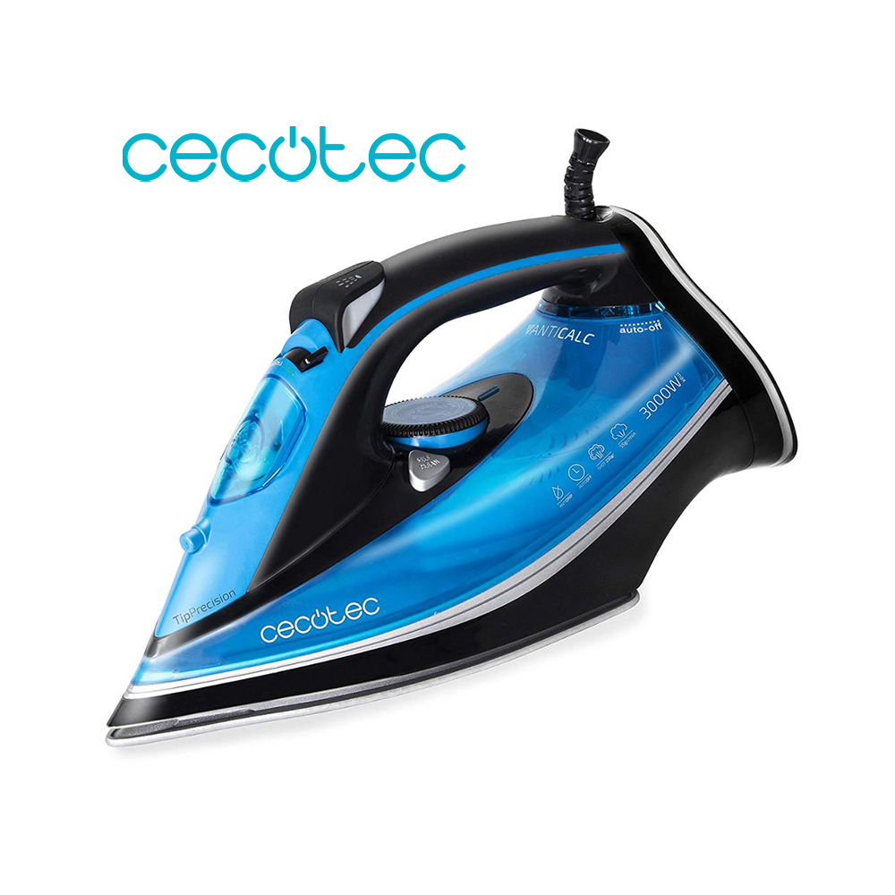 Cecotec ForceTitanium 520 Steam Iron 3000W Fast Effective Ironing Smart Control Self Cleaning Ergonomic Iron And Easy To Use