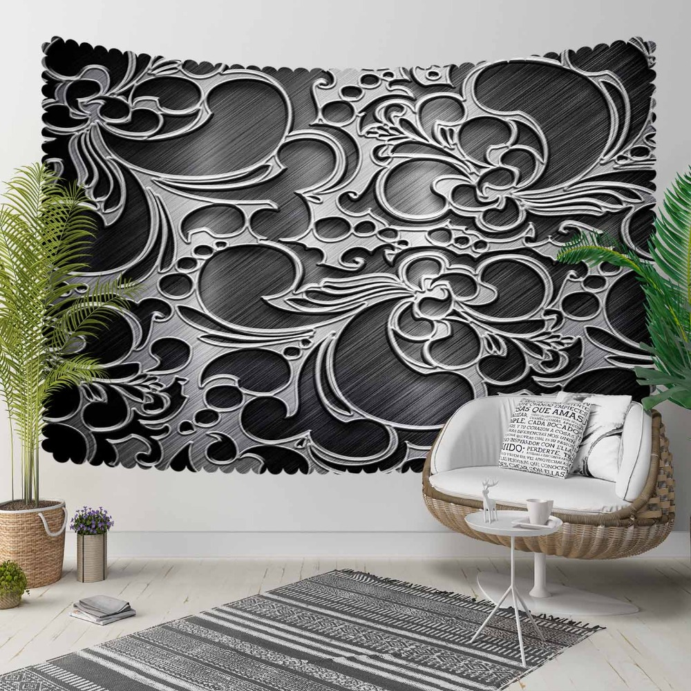 Else Black White Authentic Ottoman Turkish Abstract 3D Print Decorative Hippi Bohemian Wall Hanging Landscape Tapestry Wall Art
