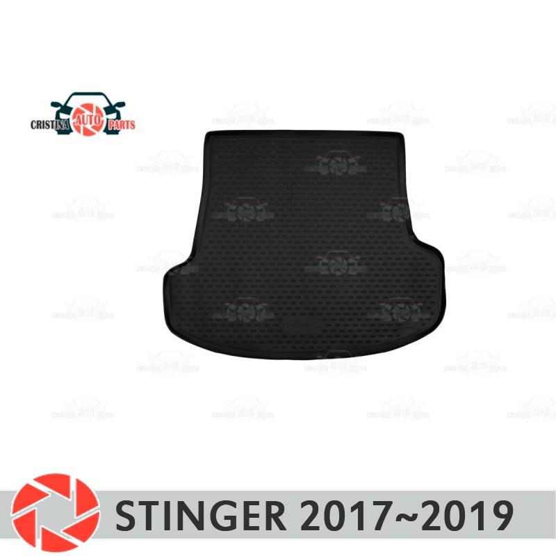 цена на Trunk mat for Kia Stinger 2017~2019 trunk floor rugs non slip polyurethane dirt protection interior trunk car styling